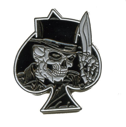 Sensenmann Skull Reaper Pik Emblem Badge Metall Button Pin Anstecker 0069