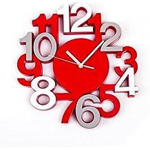 Reloj de pared silencioso - Estilo moderno - Color ROJO