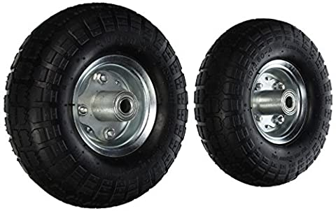 2 NEW 10 AIR Tires Wheels 5/8 by Pit Bull