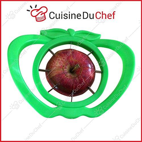 ✮ CuisineDuChef ✮ Coupe pomme 8 quartiers | Poignées ergonomiques et originales | Lames tranchantes en inox | Idéal pour les tartes | Vide pomme enlève trognon