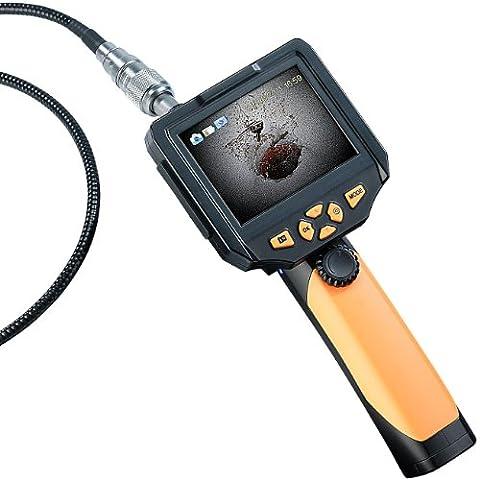 Somikon Kanalkamera: HD-Endoskop-Kamera EC-200.hd, 8,2 mm, Monitor & Aufnahme, Länge: 3 m (Endoskop HD-Kameras)