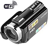 Sailnovo Kamera Camcorder, HD 1080P Videokamera 24MP 16X Digital-Zoom mit 3