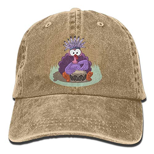 Suxinh Men Women Halloween Turkey Jeanet Baseball Hat Adjustable Trucker Cap