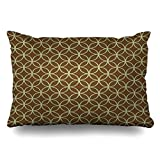 Jxrodekz Throw Pillow Covers Modern Sage Green On Chocolate Brown Circles Pillowslip Queen Size 20