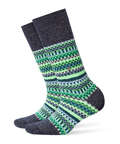Burlington Damen Socken Fair Isle, Blickdicht, Mehrfarbig (Dark Navy 6370), 36/41 (One Size)