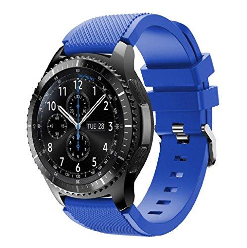 Correas para Samsung Gear S3 Frontier Sannysis Banda de pulsera de silicona deportiva color azul 01