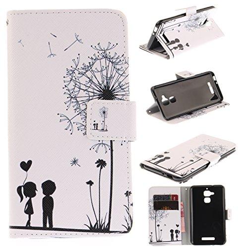Lomogo Cover ASUS Zenfone 3 Max ZC520TL, Custodia Portafoglio in Pelle Porta Carta di Credito con Chiusura Magnetica per ASUS Zenfone3 Max (ZC520TL) - LOTXI27752#8