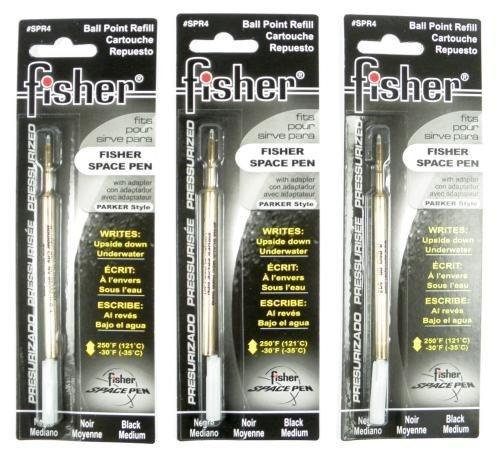 Preisvergleich Produktbild Fisher Space Pen 3 Minen Schwarz Breit