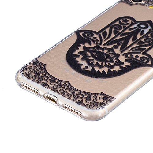 Voguecase® für Apple iPhone 7 Plus 5.5 hülle, Shinning Glitzer Bling Silikon Schutzhülle Hülle Stoßfest Kratzfeste Soft TPU Bumper Case Cover (Rot) + Gratis Universal Eingabestift Durchstochen 03/Schwarz