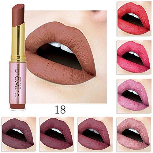 20 Colores Profesional Mate Pintalabios Maquillaje