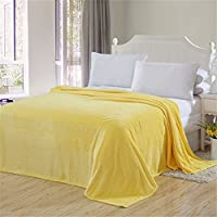 HHYWS Morbido e caldo buttare letto divano buttare coperta colore puro mollettone, Pistacchio 180*200cm
