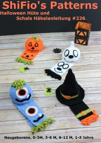 Häkelanleitung - CP226 -  Halloween Hüte und (Halloween Schal)