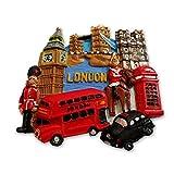 Escena de Londres #1 más vendidas coleccionable/diseño de cabina de teléfono/Bus/Big Ben/del puente de la torre/Taxi/colores UK Souvenir Imán de guardia real! Souvenir/Speicher/memoria! Fun, Memorable British UK Coleccionable de imán! Motivos florales propio a los jóvenes de Londres souvenir! Diseño con texto en/imán/Magnete/Imán! S01