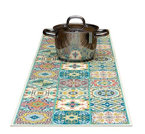 The Nisha Table Runner Dekorative Untersetzer und Küchen-Tischläufer kann bis zu 185°C erhitzen, Rutschfest, handwaschbar und praktisch für heiße Speisen und Töpfe, 135cm x 35cm, Venetian Beauty