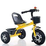 Kinderfahrrader Yhz@ Leichte Kinder Dreirad 1-3-6 Jahre alt Kinderwagen Jungen und Mädchen Fahrräder Kinderwagen (Farbe : Gelb)