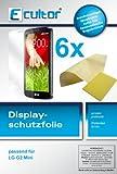 Ecultor I 6x Schutzfolie klar passend für LG G2 Mini Folie Displayschutzfolie