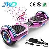 2WD Hoverboard 6.5 '' Scooter eléctrico Las Ruedas LED Luces Self Balance Scooter con Bluetooth, Scooter eléctrico 6.5
