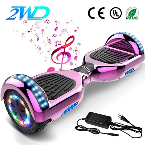 "2WD Hoverboard 6.5 '' Scooter eléctrico Las Ruedas LED Luces Self Balance Scooter con Bluetooth, Scooter eléctrico 6.5""-UL2272 Certificado monopatín eléctrico 2 * 350W"