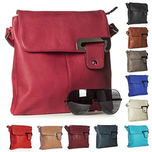 Big Handbag Shop - Borsa a tracolla donna (Blu elettrico)