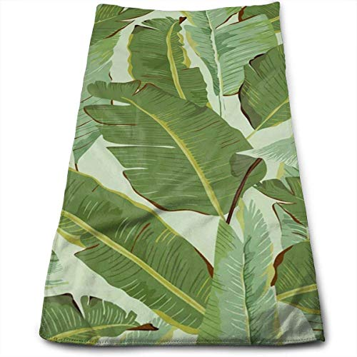 DAICHAI Tropical Plant Leaf Kitchen Towels - Dish Cloth - Machine Washable Cotton Kitchen Dishcloths, Dish Towel & Tea Towels for Drying,Cleaning,Cooking,Baking (12 X 27.5 Inch) -