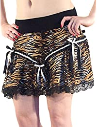 Animal Print Ladies Leopard Tutu Mini Skater lace Skirt
