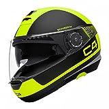 Schuberth - Caso para moto C4DVS Premium Flip Up- Casco Modular - Color amarillo small amarillo