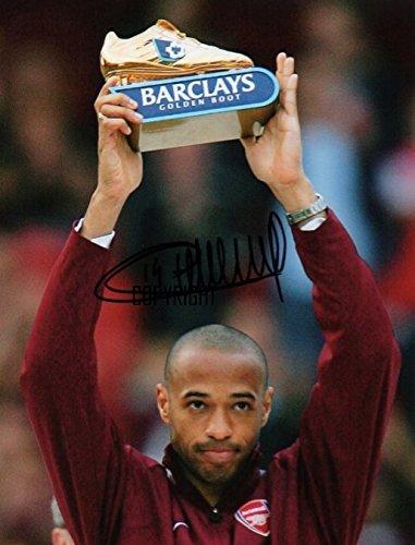 Edición limitada foto firmada de Thierry Henry Arsenal (Cert impreso