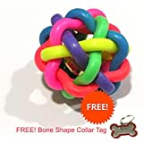 W9 Sound Ball With Bell For Dogs & Puppies -Toy, Your Dog Would Enjoy Playing With It. - Medium