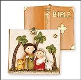 "Presepe resina/Sacra Famiglia 5cifre 3""Shed 5"" Natale Bambini Natività Sacra Bibbia"