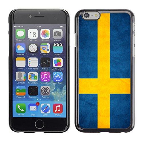 Graphic4You Vintage Uralt Flagge Von Schweiz Schweizer Design Harte Hülle Case Tasche Schutzhülle für Apple iPhone 6 / 6S Schweden Schwedisch