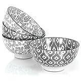 COM-FOUR® 4x Dessertschale aus Keramik im Skandinavischen Design, Schalen in grau und creme, Ø 11,5 cm, 6 cm hoch, 230 ml (04-teilig - Dessertschale)