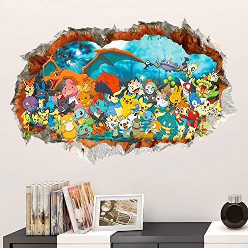 Effekt Cartoon Red Pikachu Pet Elfen Durch Wandaufkleber Für Kinderzimmer Diy Wandkunst Aufkleber Decor Pokemon Go Game Posters50 * 70