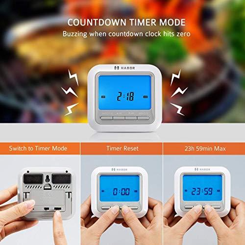 Zoom IMG-3 habor termometro cucina timer doppia