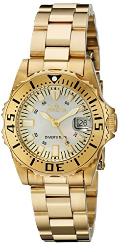Invicta 2963 30mm Gold Steel Bracelet & Case flame fusion Women's Watch