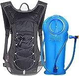 Unigear Trinkrucksack mit 2L Trinkblase, Hydration Laufrucksack Fahrradrucksack, auch für Joggen, Wandern, Camping und Bergsteigen