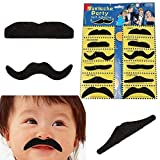#5: Futurekart Stickon Moustache/Bushy Fake Beard/Male and Female General-Purpose Black (Set of 12)