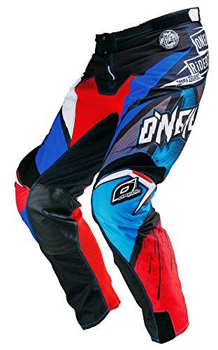 O'Neal Mayhem MX Hose GLITCH Blau Rot Motocross Enduro Cross Motorrad, 0123G-5, Größe 28/44 (Hose Motocross Blau)