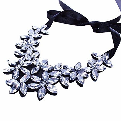 La Manera Del Collar Grande Collar De Diamantes De Imitacion Facetas Flor Cz Babero Gargantilla De La Mujer Nueva