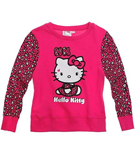 Hello Kitty Mädchen Sweatshirt - pink - 140 (Für Hello Sweatshirt Kitty Mädchen)