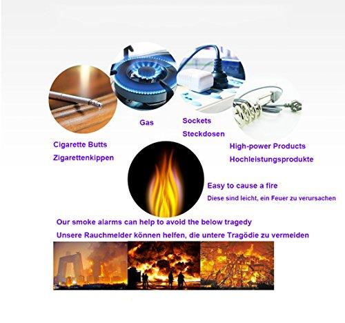 Kohlenmonoxidmelder CO Melder CO Alarm & Rauchmelder Feuermelder Brandmelder mit Elektrochemischem Sensor - 5