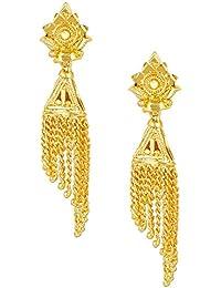 d3c783d70cfb Bodha Traditonal Gold Jhumkas para mujer 22 K (SJ 1080)