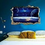 Vovotrade 3D étoiles Série étage Wall Sticker Muraux Décoratifs Vinyl Art Room Decor Voie Lactée Univers Cadeau (A)