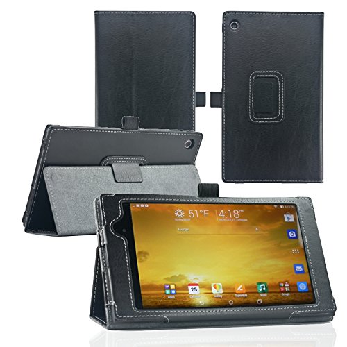navitech-asus-memo-pad-7-me572c-as-sold-in-john-lewis-black-faux-leather-multi-stand-case-cover-with