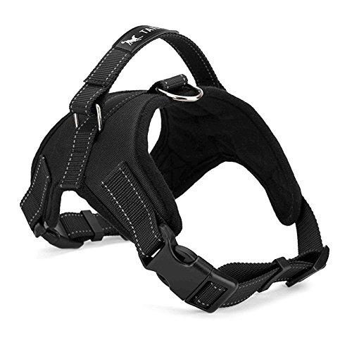 Hundegeschirr gepolstert Brustgurt Heavy Duty mit Griff Hund Training Walking Brustgurt Camouflage/Schwarz