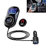 Hrph Neue Freisprecheinrichtung LCD-Auto-drahtloser Bluetooth Kit SD-Karte MP3-Player-Auto-Ladegerät FM Transmitter Fern BT67 Steuer (#1)
