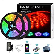 YOMYM LED Strip, LED Lights with Light Strip Kit controlled by WiFi 5050 wireless smart phone, Working with An