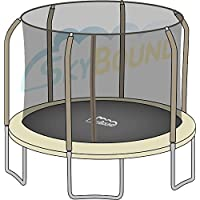 Preisvergleich für Net for 14ft Trampoline Enclosure using 6 Poles and Sleeves by Sportspower