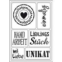 "Flex Schablone ""Selbstgemacht"" (einmalig, Lieblingsstück,Handarbeit, ...), Din A5, 400409300"