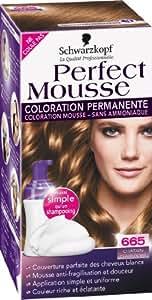 Schwarzkopf - Perfect Mousse - Coloration Permanente - Châtain Clair Doré 665