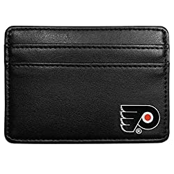 NHL Philadelphia Flyers Leather Weekend Wallet, Black
